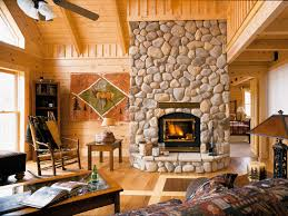 your new log home enjoy times spent around fireplace