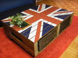pallet furniture coffee table. union jack pallet coffee table furniture