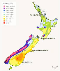 New Zealand Climate Chart New Zealand Annual Rainfall Irrigation And Drainage Te
