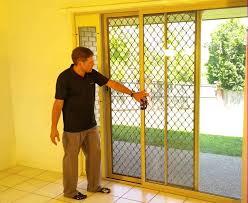 image of dog door sliding door insert frame