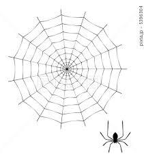 蜘蛛と蜘蛛の巣のイラスト素材 5396304 Pixta
