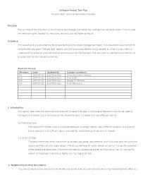Application Development Project Plan Template Software Test