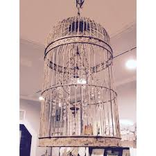 well known distressed metal birdcage chandelier a cottage in the city np07