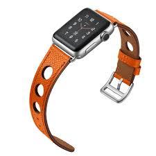apple watch leather hermes band orange