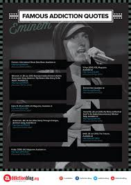 Drug Addiction Quotes Simple Eminem's Quotes On Drugs And Addiction Recovery INFOGRAPHIC