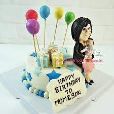 Happy Birthday Animated Gif With Sound Cake For Mom Name Wishes To