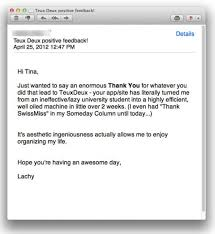 sample thank you letter after interview via email swissmiss this made my day