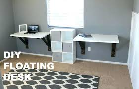 wall mounted corner desk floating build plans