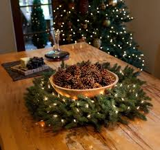 And you don't need to hang them at all  a wreath can make a beautiful holiday  centerpiece for the table.