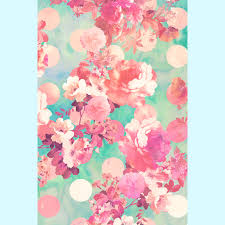 Romantic Pink Retro Floral Pattern Teal Polka Dots Barely There iPhone 6  Plus Case