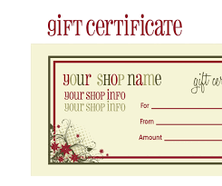 Free Printable Gift Certificate Template Word Christmas Gift Voucher Templates Free Certificate Template