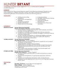 Hr Generalist Resume Samples Resume For Human Resources Resume