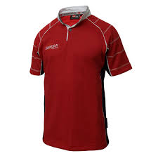 ikoma rugby shirt red navy whte