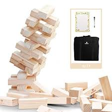 Lawn Game With Wooden Blocks Adorable Amazon Lavievert Giant Toppling Timbers Wooden Blocks Game
