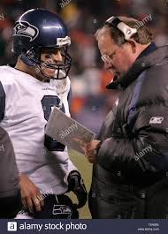 Football Coach Play Chart Seattle Seahawks Coach Mike Holmgren Stock Photos Seattle