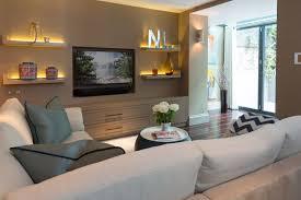floating shelves around tv round designs