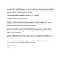 Sample Proposal Letter For Consultancy Services Sample Engineering Consulting Proposal In Word And Pdf Formats