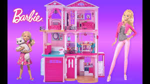 barbie dreamhouse 2016 unboxing embly and full house tour thechildhoodlife