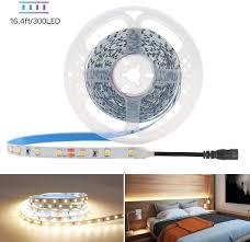 Hitlights Led Strip Lights Warm White Smd 300led 16 4ft 3528 Led Light Strip 3000k 12v Dc Tape Lights For Home Kitchen Party Under Cabinet And More