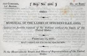 Indian removal act andrew jackson Jacksonian Democracy Petition By Ladies In Steubenville Oh Against Indian Removal State Of The Union History Petition By Ladies In Steubenville Oh Against Indian Removal