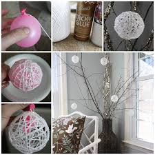 Make Decorative String Balls Simple Wonderful DIY Glittery Snowball Ornaments For Christmas