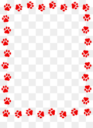 red dog paw clipart. Exellent Paw Red Dog Paw Prints Border Dog Clipart Paw Frame PNG And PSD In Red Clipart C