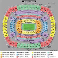 Giants Metlife Seating Chart Metlife Stadium Seating Chart Metlife Stadium East
