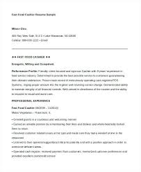 Examples Of Cashier Resumes Cashier Resume Templates Doc Free