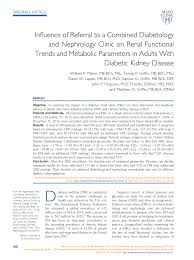 Pdf Influence Of Referral To A Combined Diabetology And