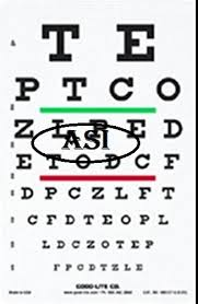 Snellen Chart Dimensions Optometric Eye Chart Analogical Scientific Manufacturer