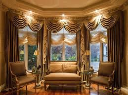 Set Of Two Table Lamps Interior Bay Window Drapes Ideas With Two Table Lamps On Round