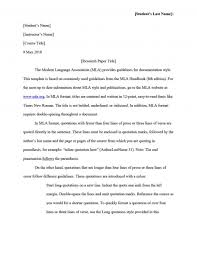 Unique First Page Research Paper Mla Format Museumlegs