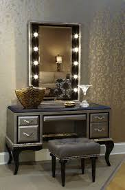 modern mirrored makeup vanity. Photo 2 Of 6 Small Modern Mirrored Makeup Vanity Table With Wooden Frame And Legs Painted Black K