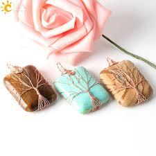 handmade jewellery ping india life tree lover reiki semi precious gemstone pendants for necklace free rope