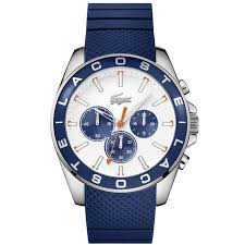men s blue westport chronograph watch lacoste