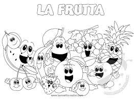Fresco Disegni Da Colorare Con Parti Dei Frutti Per Scuola Primaria