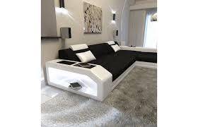Stoffsofa Prato L Form In Schwarz Weiß Exklusiv Bei Sofa
