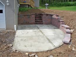 stamped concrete patio. Stamped Concrete Patio And Wall Moscow Pa L