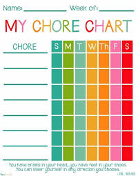 Child Chore Chart Chore Chart Kids Free Printable Chore