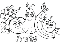 Fruits And Vegetables Coloring Pages Pdf Free Garden Color Colouring