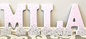 wooden letters diy nursery decor