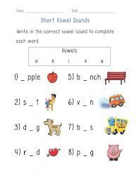 Vowel Worksheets Short And Long Kindergarten A Work ~ Koogra
