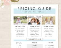 Photography Pricing Template Photography Pricing Template Lavanc Org