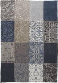 louis de poortere rug vintage blue denim