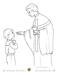 Communion Coloring Pages Printable For Kids First Coloring Source