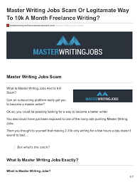 master writing jobs scam or legitamate way to k a month lance master writing jobs scam or legitamate way to 10k a month lance writing makemoneyonlinescamsexposed