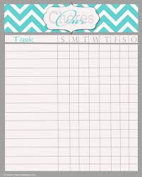 Editable Chore Chart For Adults Chore Maker Sada Margarethaydon Com