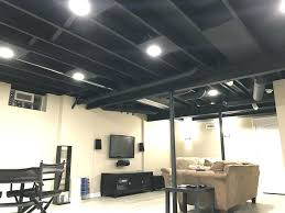 exposed lighting. Lighting For Unfinished Basement Ceiling Dumbfound Recessed And Best Exposed Ideas On Home Interior 3 Can Lights Gfci Recess