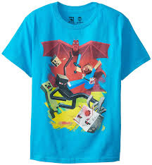 Amazon.com: Minecraft Boy\u0027s Sam Cube Battle Youth T-Shirt: Clothing