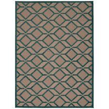 nourison aloha blue 5 ft x 7 ft indoor outdoor area rug
